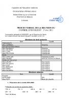 Regroupement scolaire Autruy-sur-Juine_ Charmont-en-Beauce_PROCES VERBAL DE LA REUNION DU 27 mai_